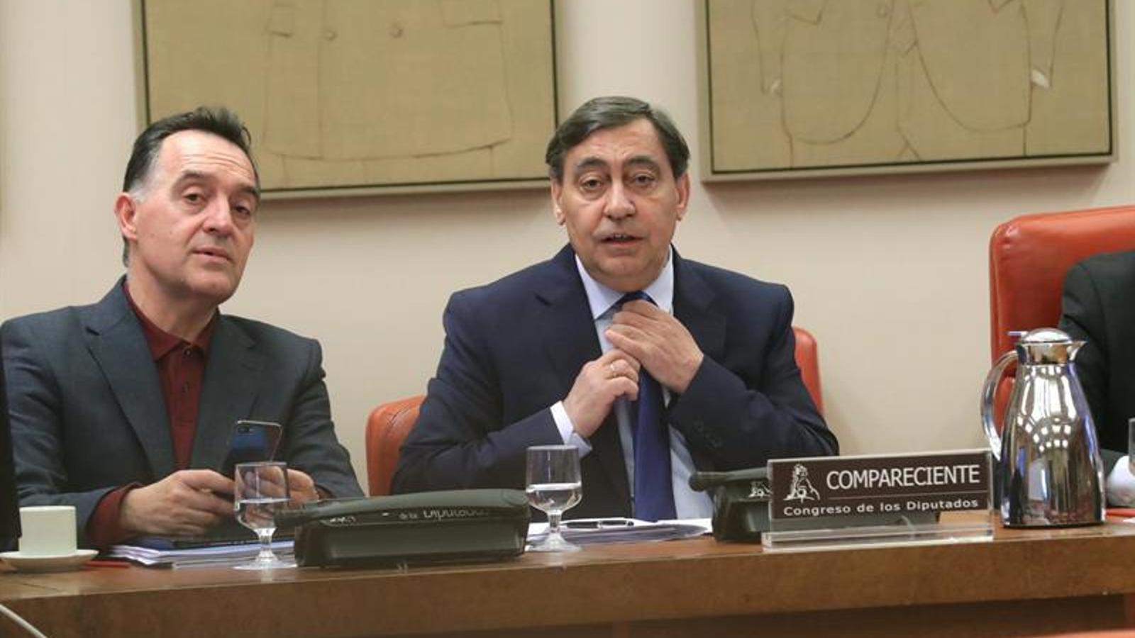 El fiscal general de l'Estat, Julián Sánchez Melgar, durant la compareixença al Congrés. EFE