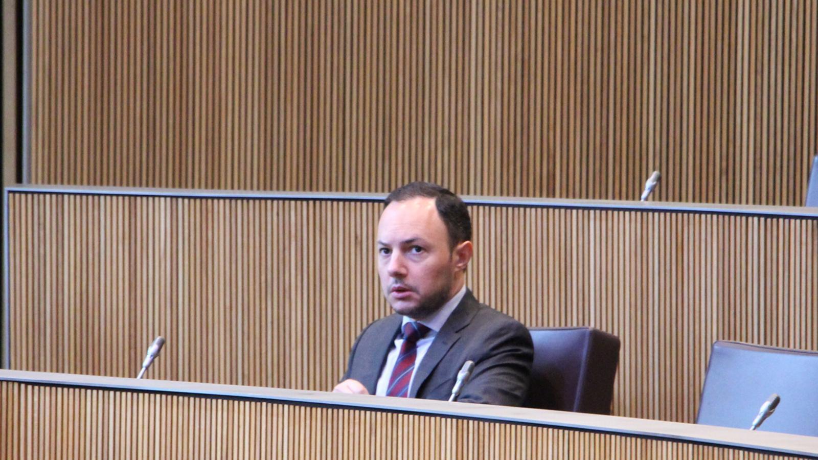 El ministre d'Afers Socials, Justícia i Interior, Xavier Espot. / M. F. (ANA)