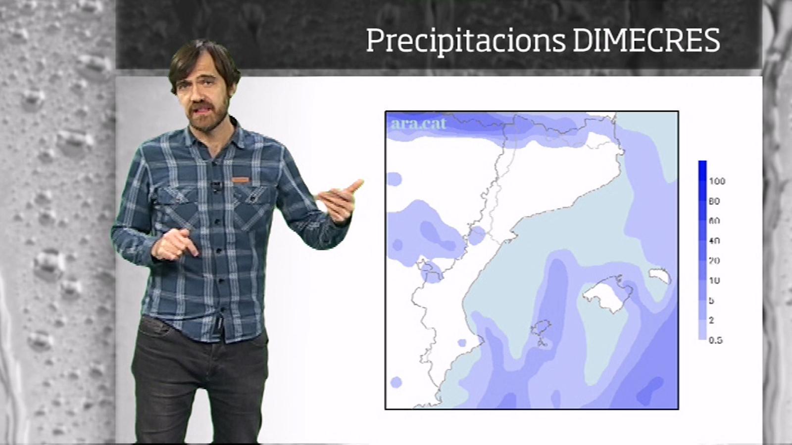 La méteo en 1 minut: ventades, més neu i temperatures més altes