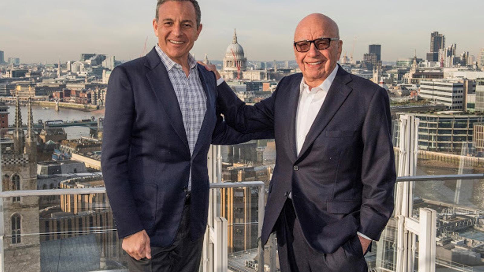 El conseller delegat de Disney, Bob Iger, i el president de Fox, Rupert Murdoch