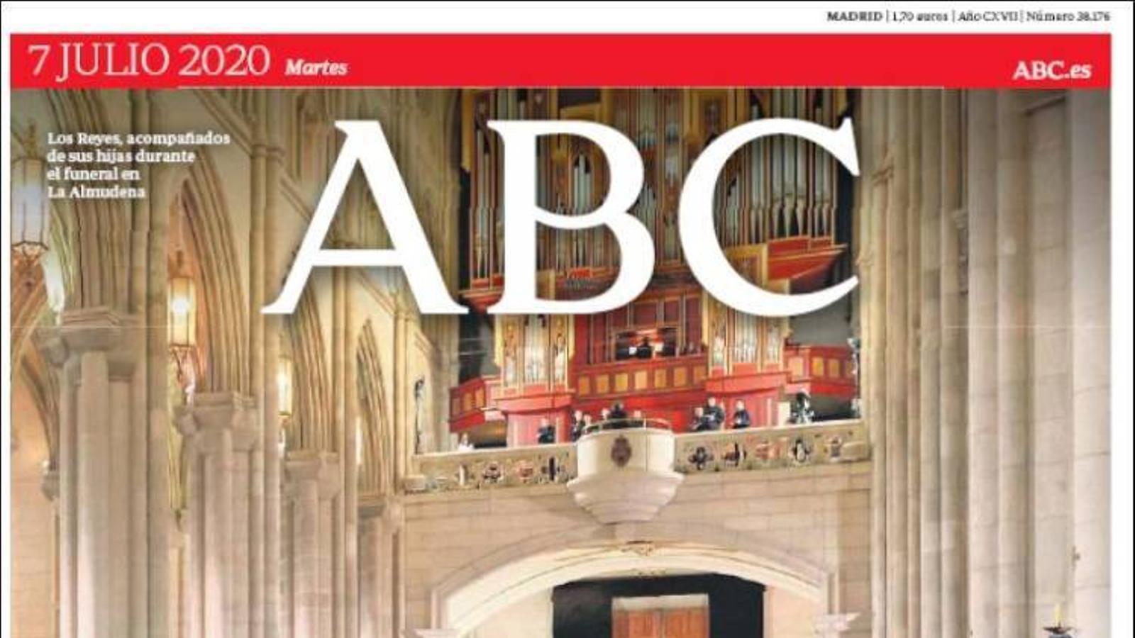 Portada de l'Abc, 7 de juliol del 2020