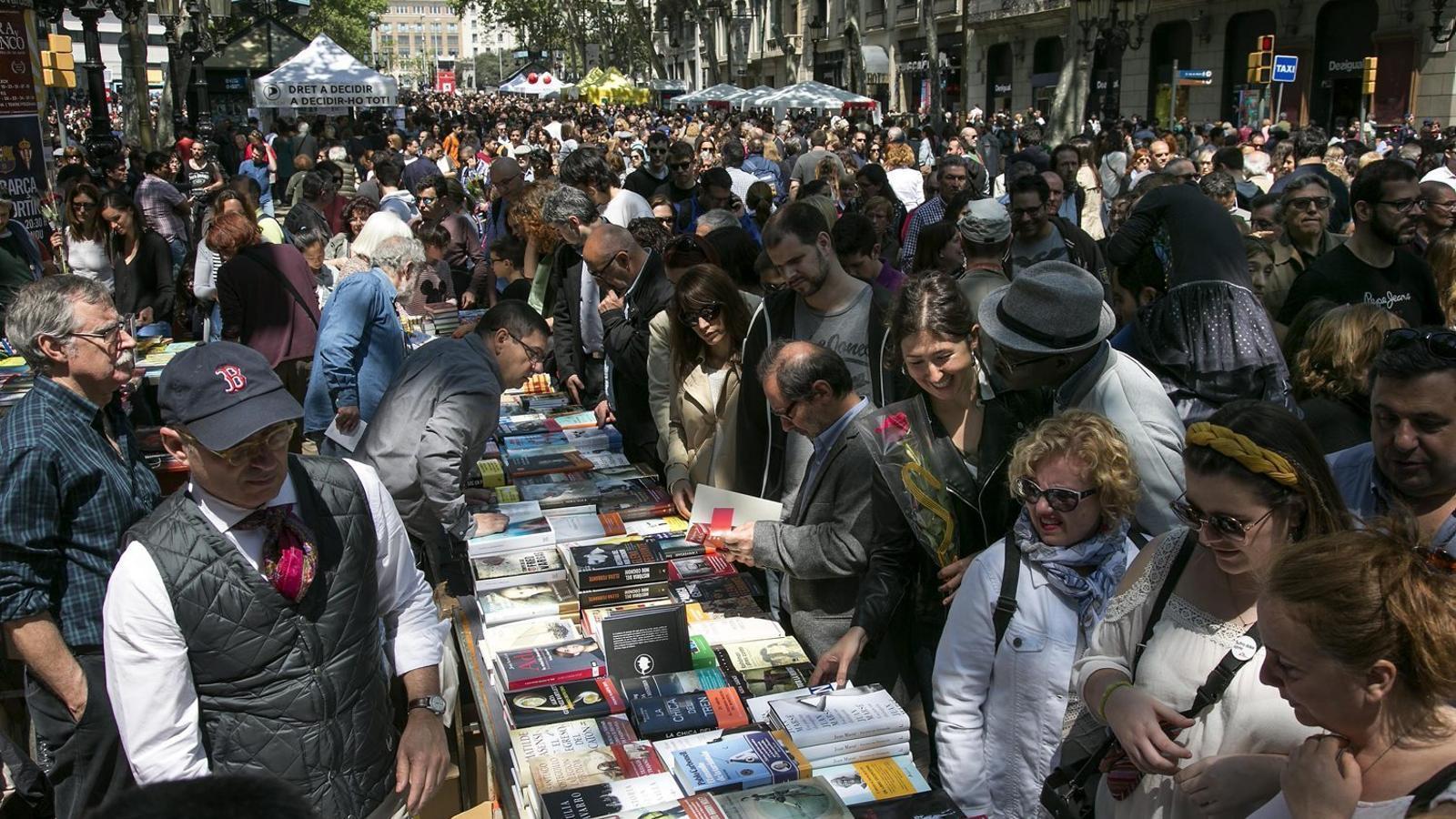 Durant l'últim Sant Jordi   S'han venut 1,6 milions de llibres a tot Catalunya.
