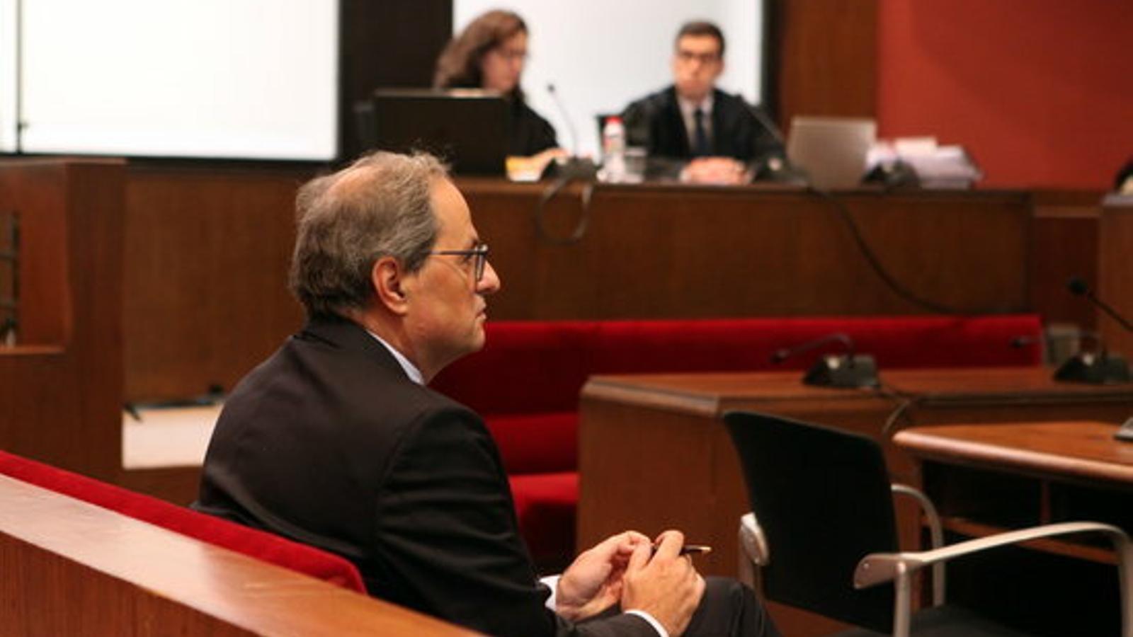 """Torra acusa el TSJC de fer un """"judici polític"""": """"Benvinguda sigui la condemna"""""""