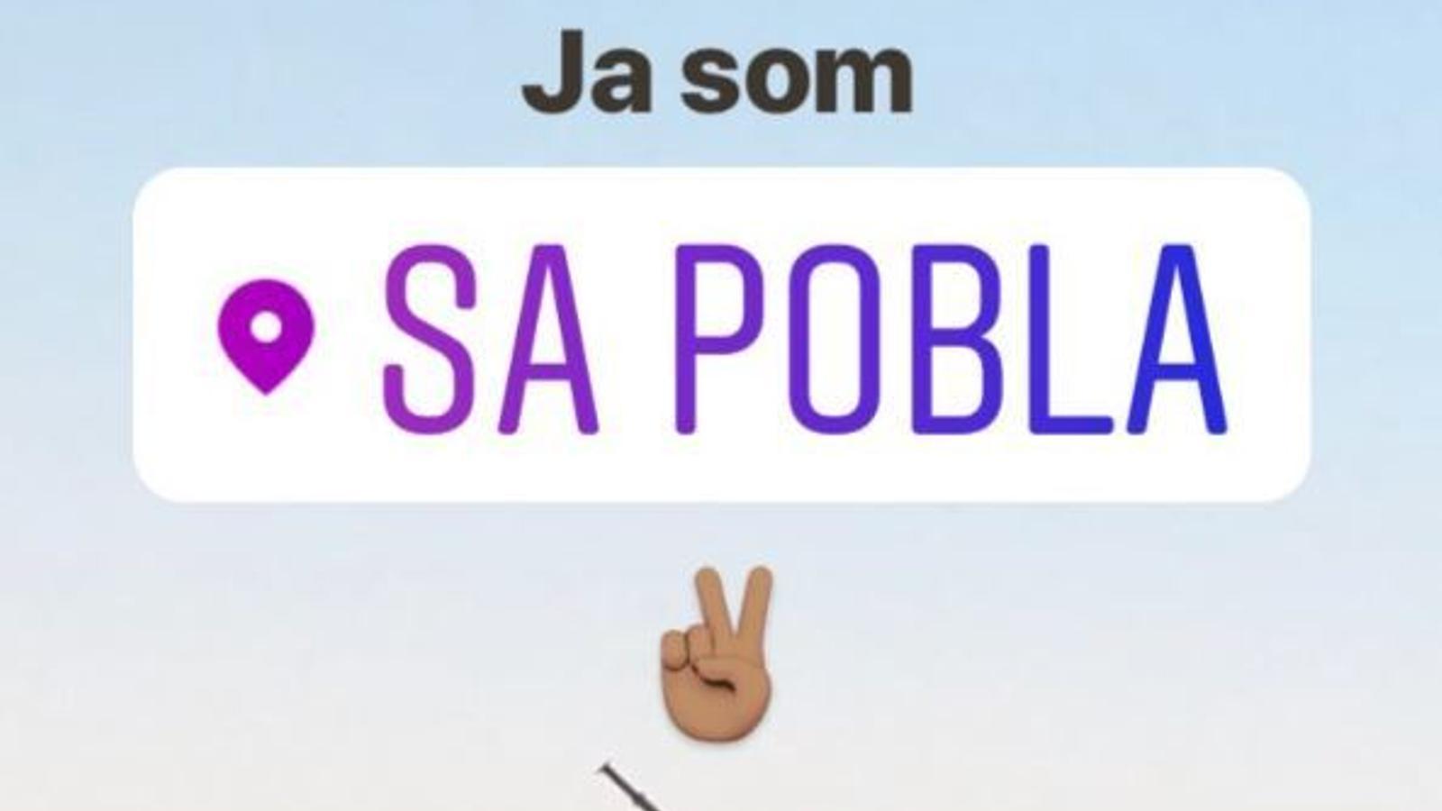 Descripció de la localització de sa Pobla a Instagram. / @TOSITOCA