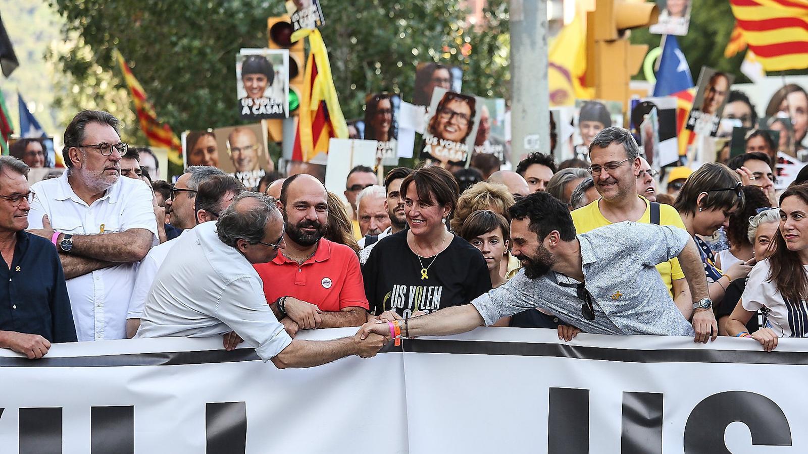 Manifestació unitària del juliol per la llibertat dels presos polítics i exiliats. / PERE VIRGILI