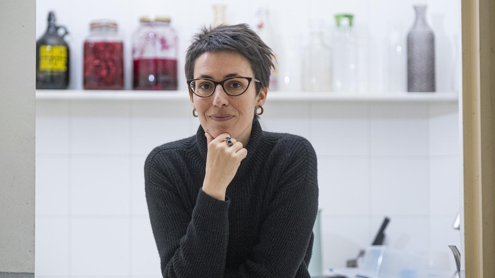 Eva Baltasar, a la Casa Adret de Barcelona