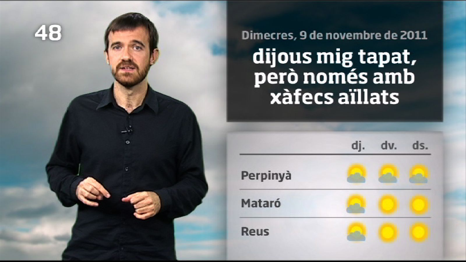La méteo en 1 minut: temperatures encara més altes (10/11/2011)