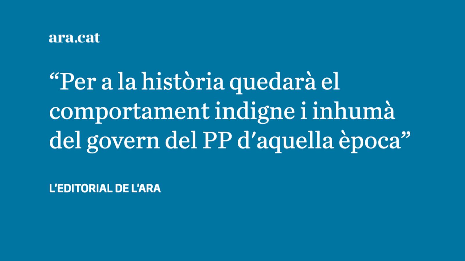 La dignitat de les víctimes de l'accident de metro de València