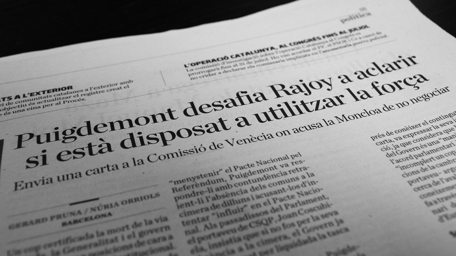 L'anàlisi d'Antoni Bassas: 'L'Estat ens rodeja i ens parla pel megàfon'