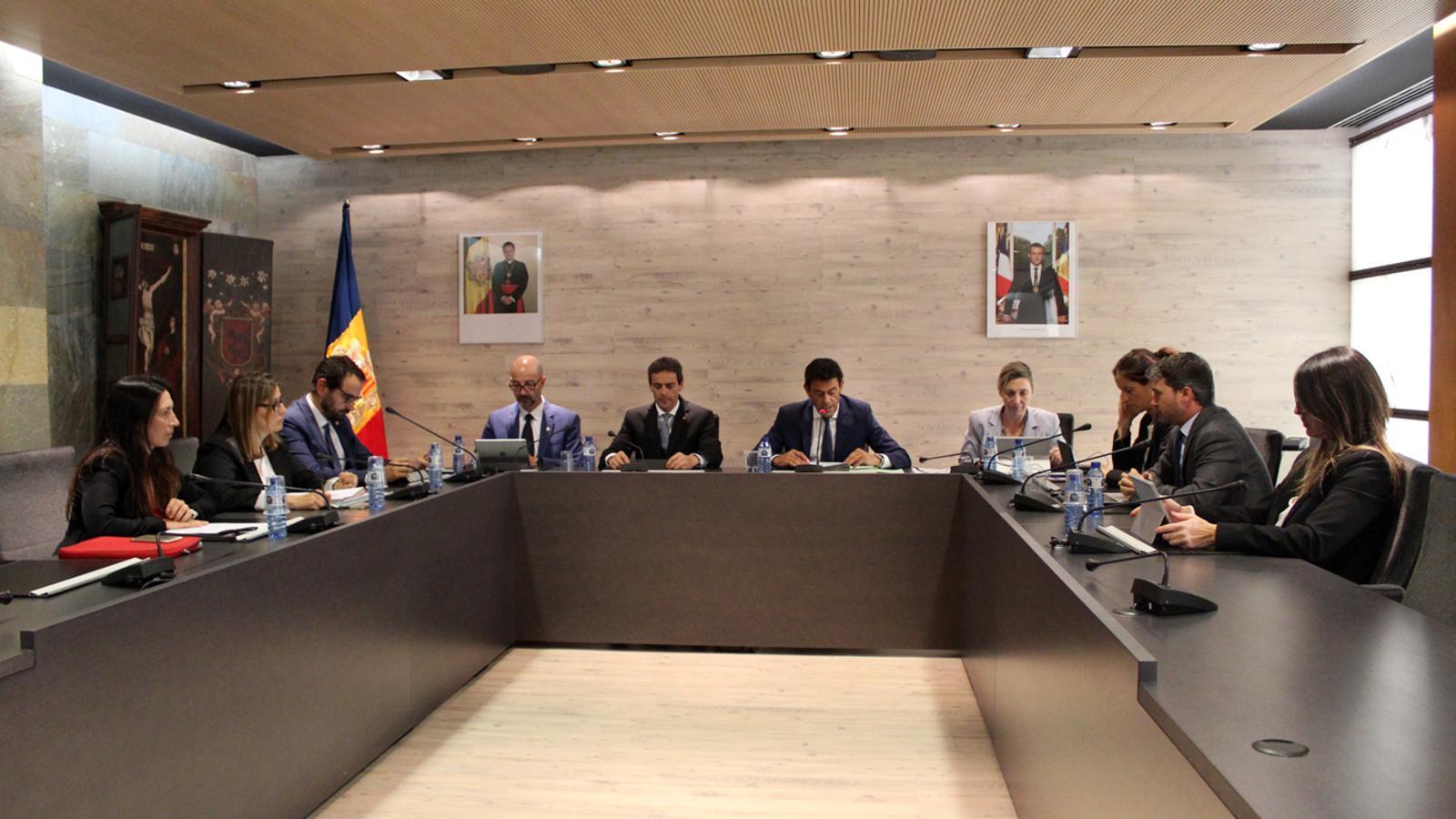 Sessió de consell de comú d'Ordino, celebrada aquest dimecres. / T. N. (ANA)