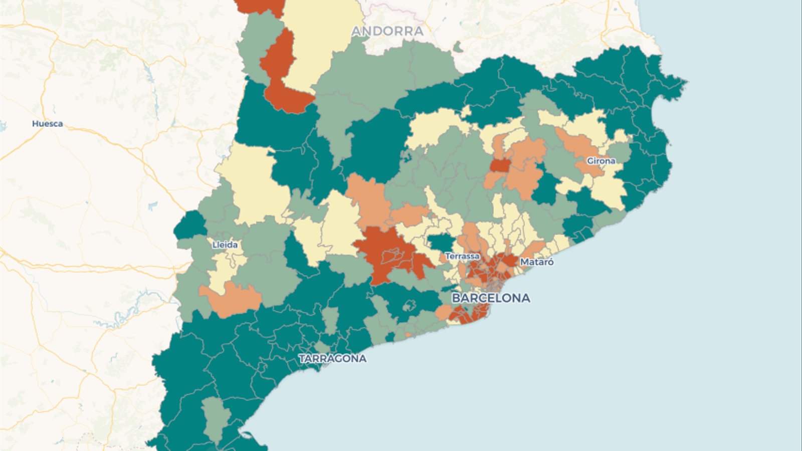 Mapa Interactiu Municipis Catalunya.Quines Son Les Zones De Catalunya Mes Afectades Pel Coronavirus